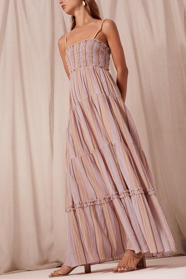 Ariana Maxi Dress, Sunset Stripe