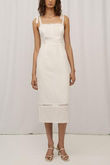 Cassandra Dress, Blanc