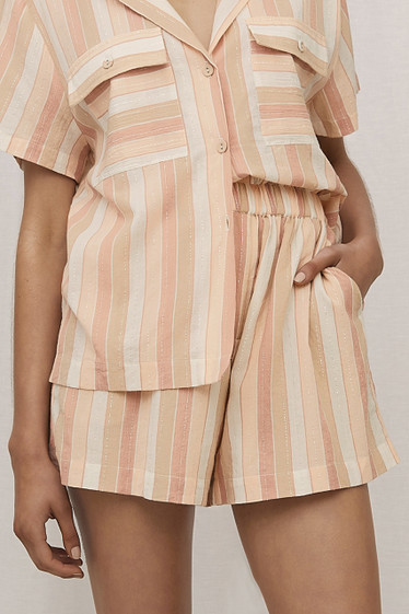 Zadie Shorts, Toffee Stripe