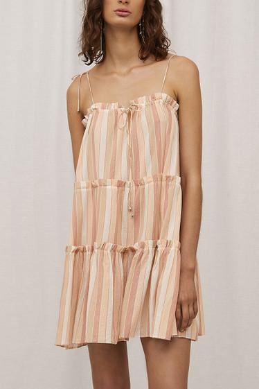 Sanzio Dress, Toffee Stripe
