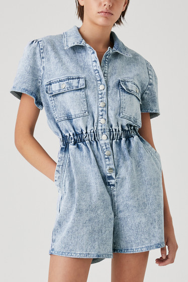 Darcy Playsuit, Blue Wash
