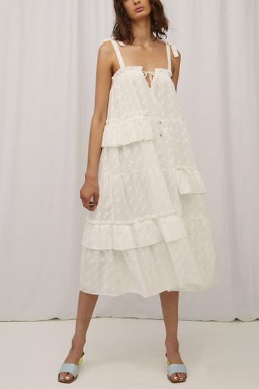 Renee Dress, Blanc