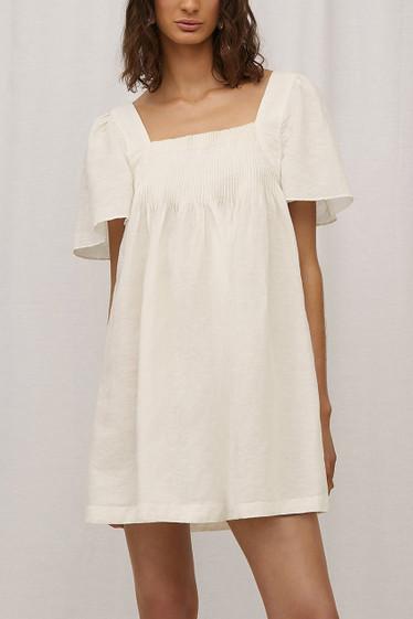 Denisa Dress, Blanc