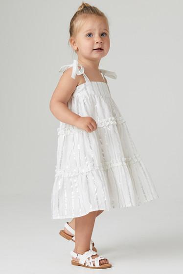 Ariana Swing Dress, Ivory, Mini