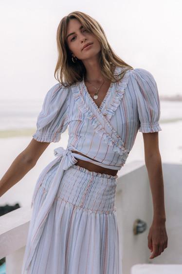 Becky Blouse, Multi Stripe