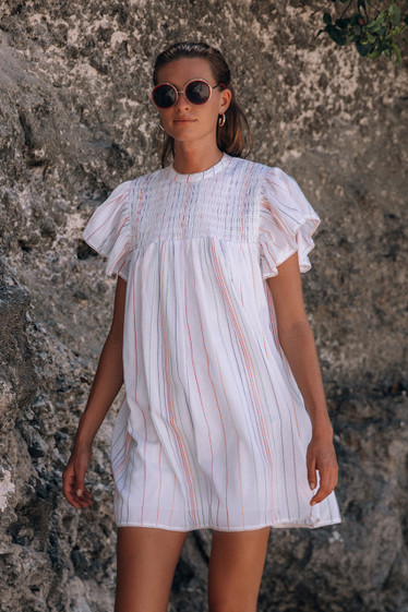 Retreat Dress, Multi Stripe