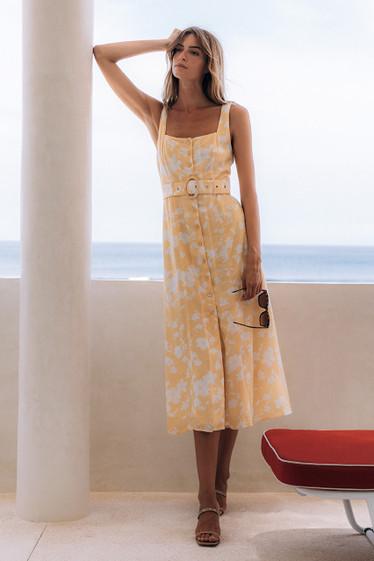 Reyna Dress, Goldflower