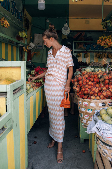 Melinda Skirt, Mandarin Wave