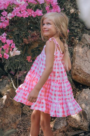 Alfie Dress, Mini, Bubblegum Check