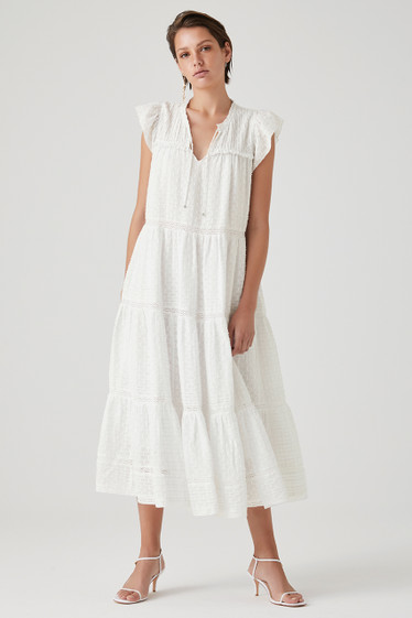 Kyra Dress, Ivory Flicker