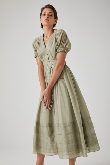 Carmen Dress, Pistachio