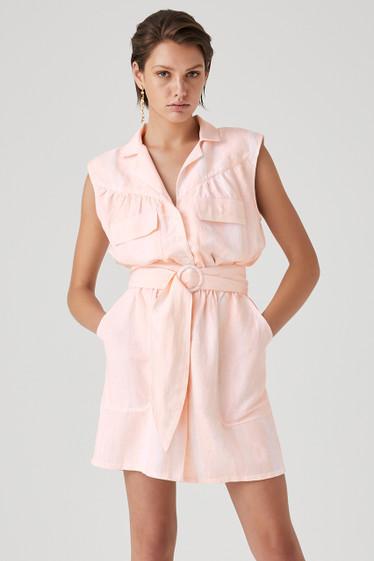 Emmy Dress, Peach Wash