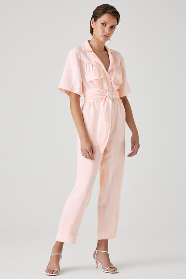 Solange Jumpsuit, Peach Wash