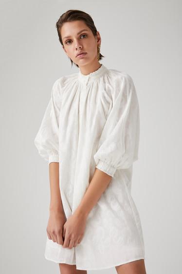 Valence Dress, Blanc Buta