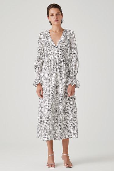 Meadow Dress, Noir Speck