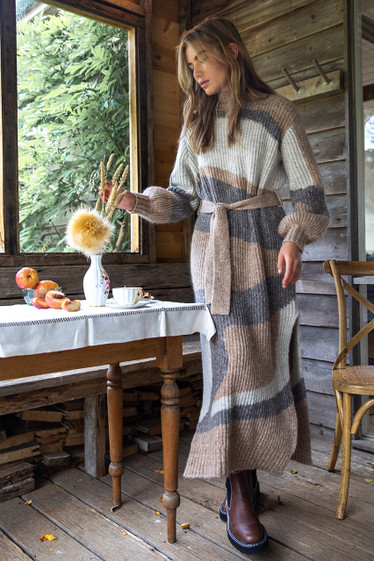 Lune Knit Dress, Woodsmoke
