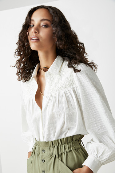 Fly Blouse, Ivory