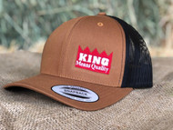 KING  Brown Black Cap