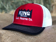 KING Red White BLK Cap