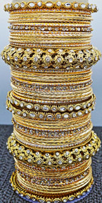 Gold Metal Bangle, buy online now. Free Shipping.