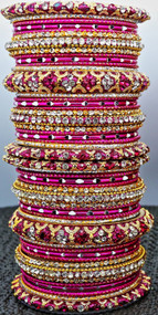 Hot Pink Bangle set, buy online now. Free Shipping.
