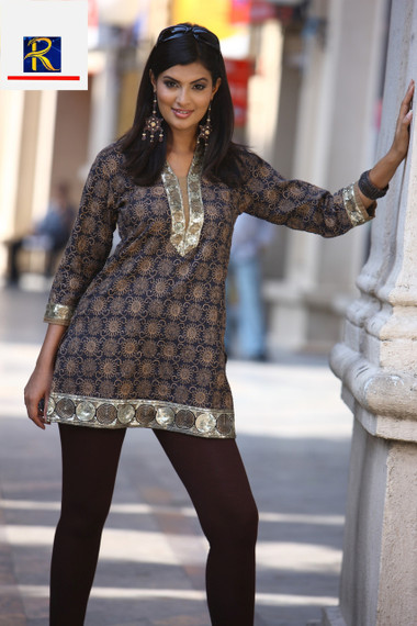Stunning Black Kurti with Mirror Work   Buy Now   Exclusive Collection