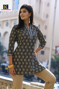 Black Kurti with Pearl motif | Buy Now