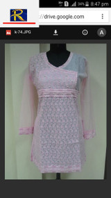 Pink Kurti with Pearl motifs   Buy now