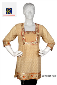 Exquisite Brown Kurti with floral Motifs  Buy now