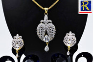 Exclusive Pendant Set | Set with Clear AD Stone | Sparkling AD Pendant  | Buy online now | Free Shipping Australia wide