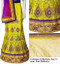 Buy Now | Stunning piece | Yellow, Purple & Gold Lehenga Choli Set | Purple Dupatta & gold Blouse Piece | Semi Stitched  | Blouse is not stitched