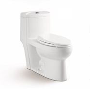 Select One Piece Button Flush Toilet in White 06MUY-MY2190