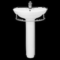 American Standard Ravenna 4 Pedestal Lavatory Sink with Towel Bar in White 08AMS-0268405-020