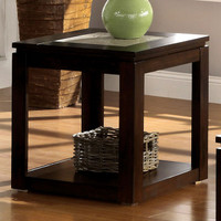 Furniture of America Verona End Table in Espresso 25FA-CM4484E