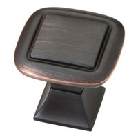 "1-1/4"" Square Knob with Square in Venetian Bronze With Copper Highlights 34LI-P20327-VBC-C"