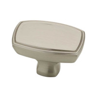 1 1/2 Ashtyn Rectangle Knob in Satin Nickel 34LI-P22438-SN-C