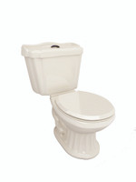 Corona Mazara Two Piece Toilet in Bone 06COR-MAZARBON
