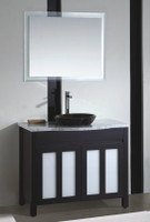 40-1/4 Bathroom Vanity Cabinet with Vessel Sink and Mirror in Espresso 08SU-SLT-T038