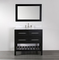 "33-1/2"" Bathroom Cabinet in Espresso 08SU-SLT-T050-3"