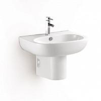 Select Wall Hung Half Pedestal Set in White 08MUY-MY338060-SET