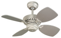 "Monte Carlo 28"" Indoor Ceiling Fan in Brushed Pewter 29MC-4CO28-BP"