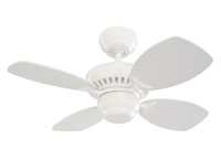 "Monte Carlo 28"" Indoor Ceiling Fan in White 29MC-4CO28-WH"