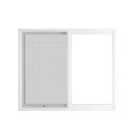 "Active Home Centre 60"" x 36"" UPVC Sliding Window with Mesh"