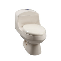 Corona Monte Carlo High Efficiency Dual Flush Elongated Front Toilet in Bone