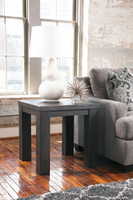 Ashley Lamoille Square End Table in Dark Grey (25AS-T850-2)