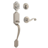 Kwikset 98001-094 Satin Nickel Smartkey Arlington Handleset With Lido Lever (Entry Lock)
