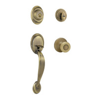 Kwikset 96870-025 Antique Brass Dakota Entry Handlesets