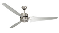 "Emerson 60"" Finish Indoor Ceiling Fan in Brushed Steel (29EM-HF1160-BS)"