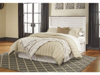 Ashley Willowton King Upholstered Panel Bedframe in White Wash (25AS-B267-KG)