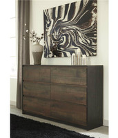 Ashley Windlore 6-Drawer Dresser in Dark Brown (25AS-B320-31)